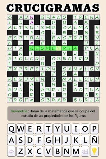 Crosswords - Spanish version (Crucigramas) 1.2.3 screenshots 21