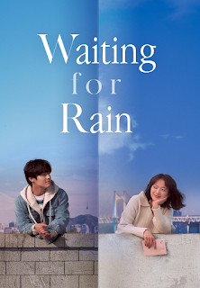 """alt=""""Young-ho (Ha-neul Kang), a struggling student who has failed to get into college multiple times, has been wandering aimlessly through life. One day, while reminiscing his elementary school days, he decides to send a letter to a former school friend named So-yeon. So-hee (Woo-hee Chun) has been running a small, second-hand bookshop with her mother since giving up college. So-hee writes back to Young-ho's letter on her sister's behalf. The two begin exchanging letters and their correspondence slowly brings color to their life. As the letters pile up, the two become a source of solace for each other and Young-ho eventually suggests that they meet on December 31 – but only if it rains – so year after year he waits for her, even though the day may never come…"""""""