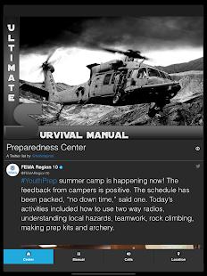 Schermata del manuale Ultimate Survival