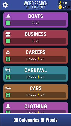 Block Words Search - Classic Puzzle Game 2.0 screenshots 1