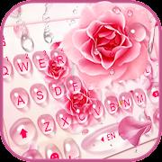 Rose Waterdrop Keyboard Theme