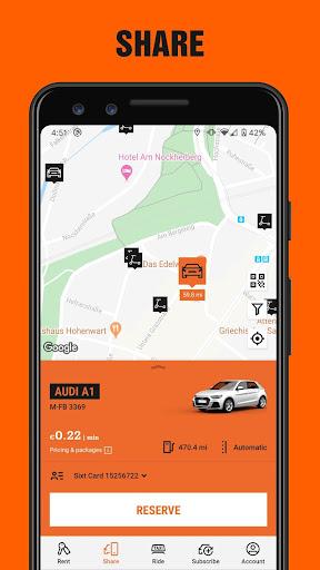 SIXT: Car rental, Carsharing & Taxi 9.40.2-10277 Screenshots 3
