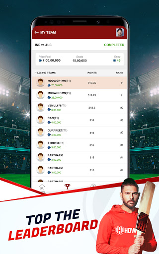 Howzat Fantasy Cricket App - Free Fantasy Games apkdebit screenshots 12