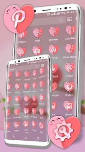 Love Heart Pink Launcher Theme