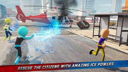 Stickman Ice Hero Crime City Mod Apk 1.6 (Ads Free) 7