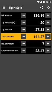 Tip N Split Tip Calculator Screenshot