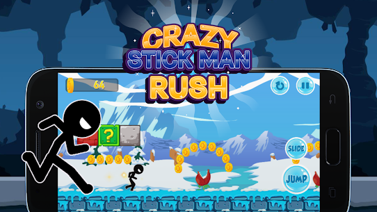 Crazy Stickman Rush Hack for iOS and Android 2