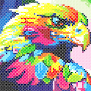 Animals Cross Stitch : Needlework Color by Numbers
