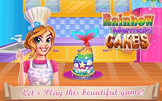 Rainbow Mermaid Cake