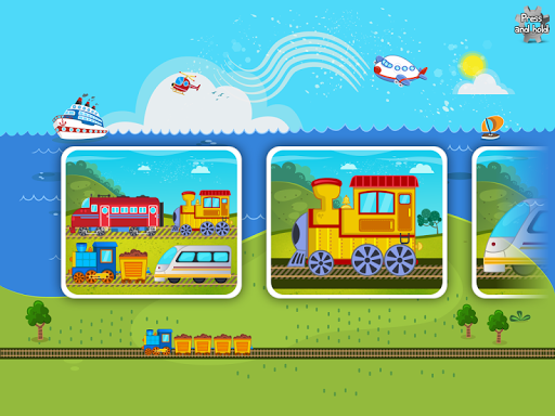 Trains Jigsaw Puzzles for Kids apkmr screenshots 9