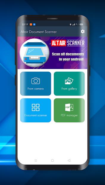 Altair Document Scanner (Camera to PDF) screenshot 1