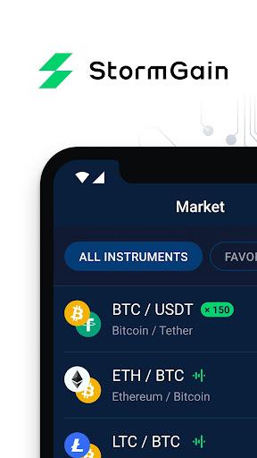 StormGain: Cryptocurrency Trading App  Paidproapk.com 1