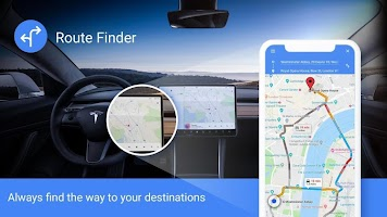 GPS Navigation - Route Finder, Direction, Road Map