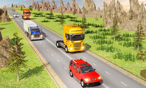 traffic highway truck racing - truck driving screenshot 2