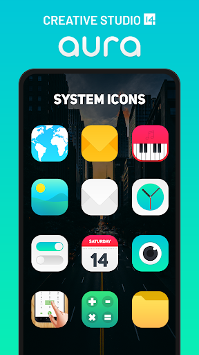 Aura Icon Pack - Rounded Square Icons  screenshots 1