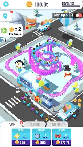 Idle Roller Coaster apkdebit screenshots 5