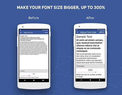 Big Font - Change Font Size & Text Size  Screenshots 1