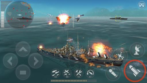 Télécharger WARSHIP BATTLE:3D World War II mod apk screenshots 1