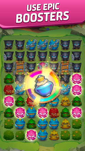 Cat Force - PvP Match 3 Puzzle Game  screenshots 5