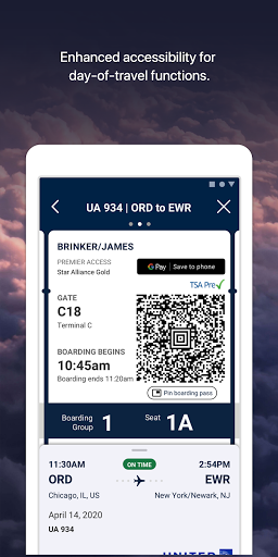United Airlines android2mod screenshots 2