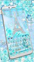 Diamond Paris Butterfly Keyboard Theme
