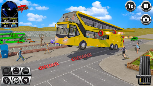 Flying Bus Driving simulator 2019: Free Bus Games 3.1 screenshots 2