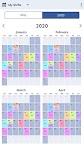screenshot of Personal Work Shift Schedule & Calendar
