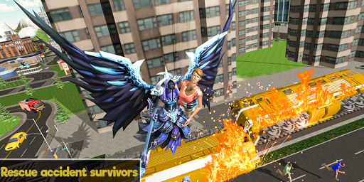 Flying Angel Superheroes Battle 2020 - Crime Time  screenshots 2