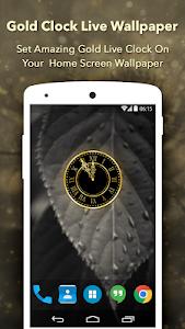 Gold Clock : Analog Clock Live Wallpaper 1.6
