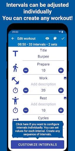 Tabata Timer: Interval Timer Workout Timer HIIT 5.2.1 Screenshots 6