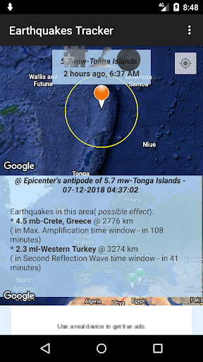 Earthquakes Tracker 2.6.9 Screenshots 5