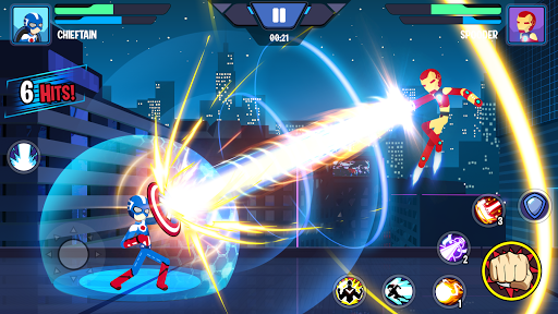 Stickman Superhero - Super Stick Heroes Fight  screenshots 1