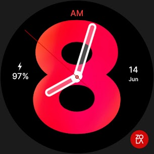 Hybrid Red Watch Face 4