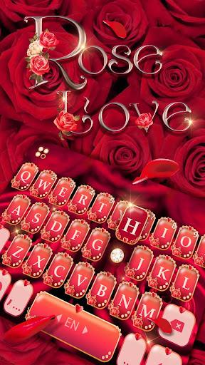 rose love keyboard theme screenshot 2
