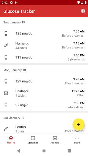 Diabetes Tracker 1.1.1 screenshots 1