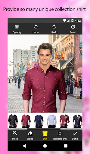 Man Shirt Photo Suit Editor apktram screenshots 2