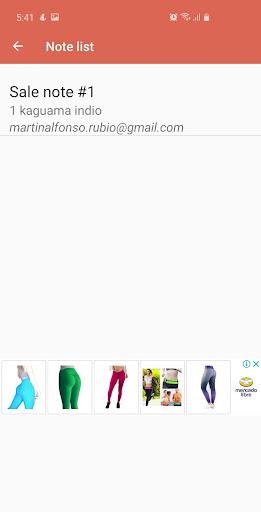 Sale notes  screenshots 4