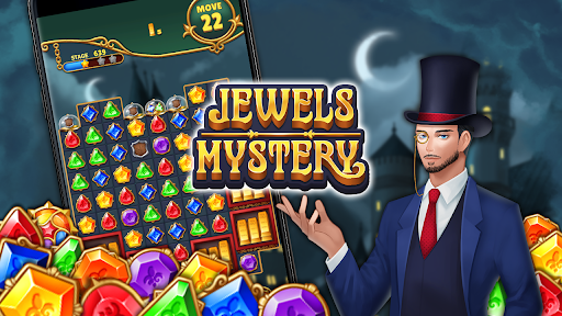 Jewels Mystery: Match 3 Puzzle apkslow screenshots 6