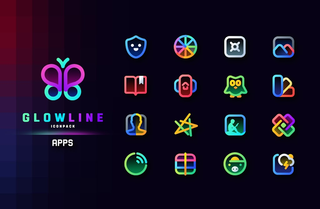 GlowLine Icon Pack  poster 4