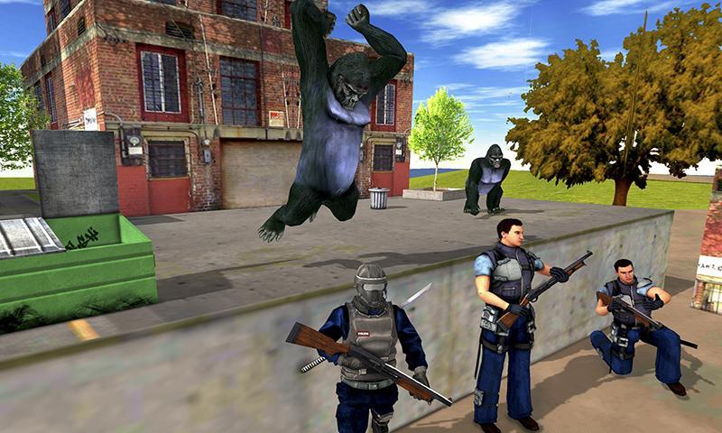 Captura 3 de Ataque de monos enojados guerra de supervivencia para android