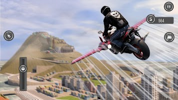 Flying Motorbike Stunts Riding Simulator