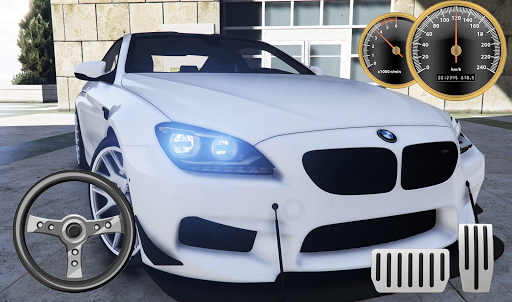 Drive BMW M6 Coupe - City & Parking apkpoly screenshots 4