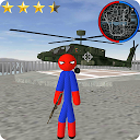Stickman Spider Rope Hero Gangstar City