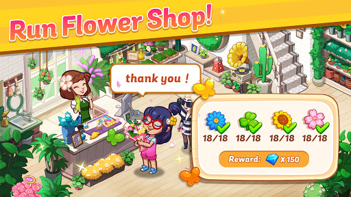 Ohana Island - Design Flower Shop & Blast Puzzle apkslow screenshots 1