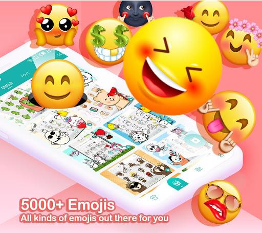 Kika Keyboard 2021 - Emoji Keyboard, Stickers, GIF 6.6.9.6601 Screenshots 1