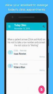 ClinicMD: Patients, Visits, Incom call patient ID