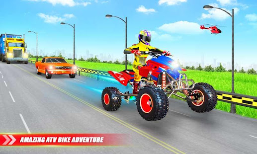Light ATV Quad Bike Racing, Traffic Racing Games 19 Screenshots 3