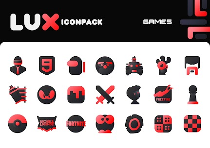 Lux Red IconPack Apk 1.0 (Paid) 6