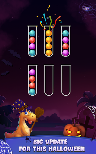 Color Ball Sort Puzzle - Dino Bubble Sorting Game  screenshots 19
