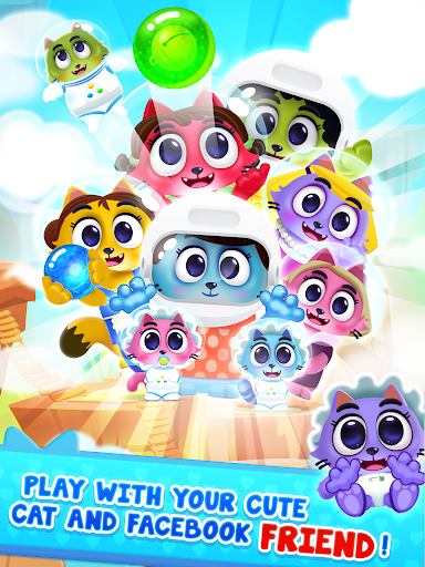Space Cats Pop - Kitty Bubble Pop Games apkmr screenshots 12